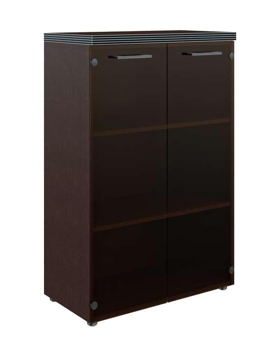 Шкаф для документов со стеклом ТМС-85.2 (850*430*1165)