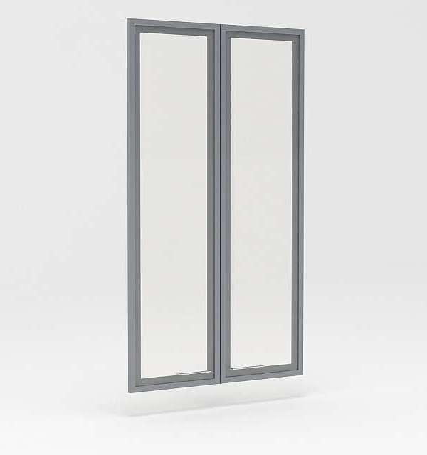 Двери стеклянные в профиле МДФ Р-023 (760*18*1354)
