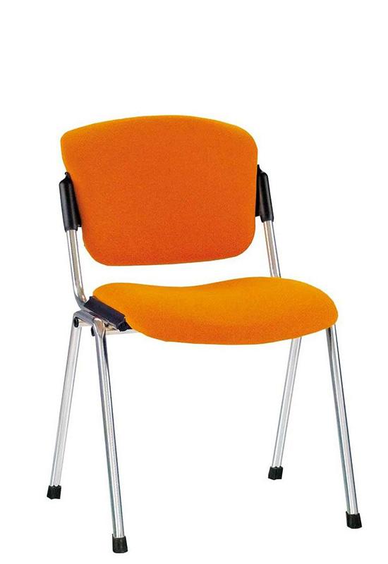 Офисный стул хром и кожа